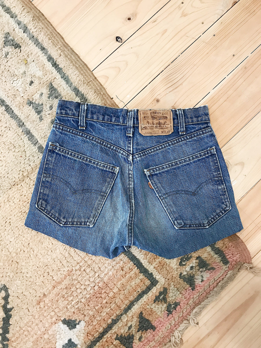 Vintage Levis Denim Shorts Size 28