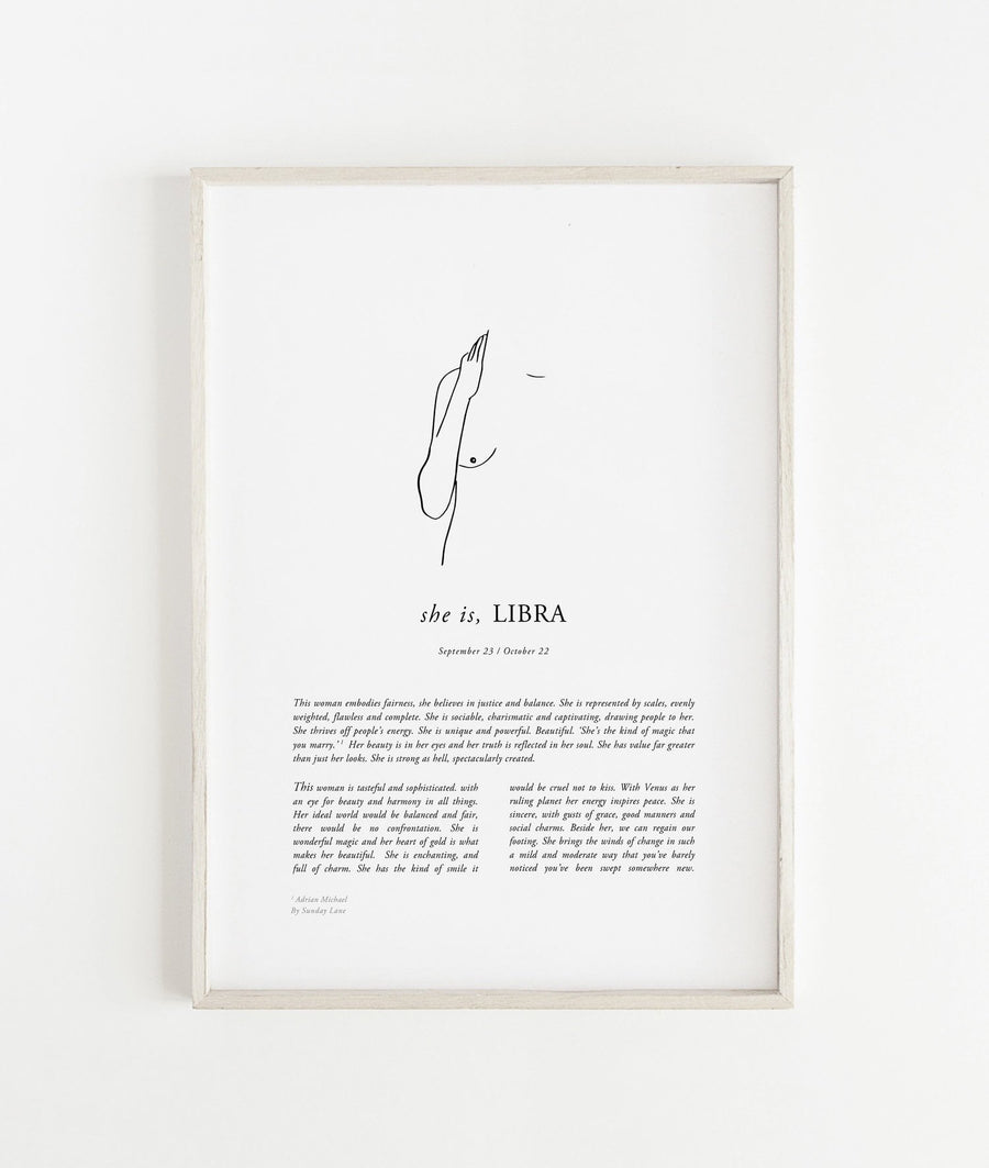 Sunday Lane Libra Print