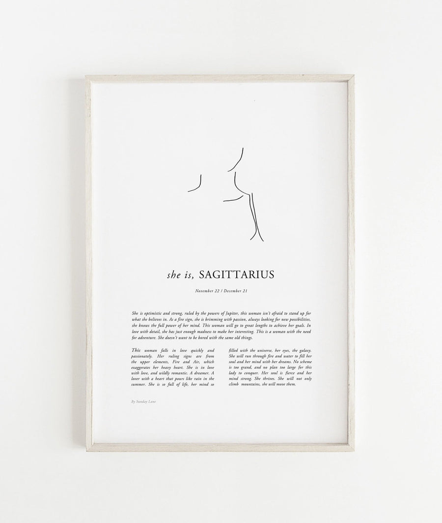 Sunday Lane Sagittarius Print