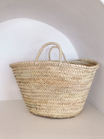 Olivia Moroccan Straw Basket