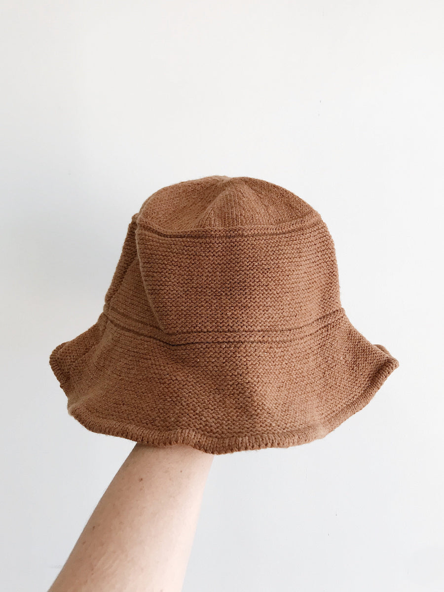 Luna Knitted Bucket Hat Whiskey