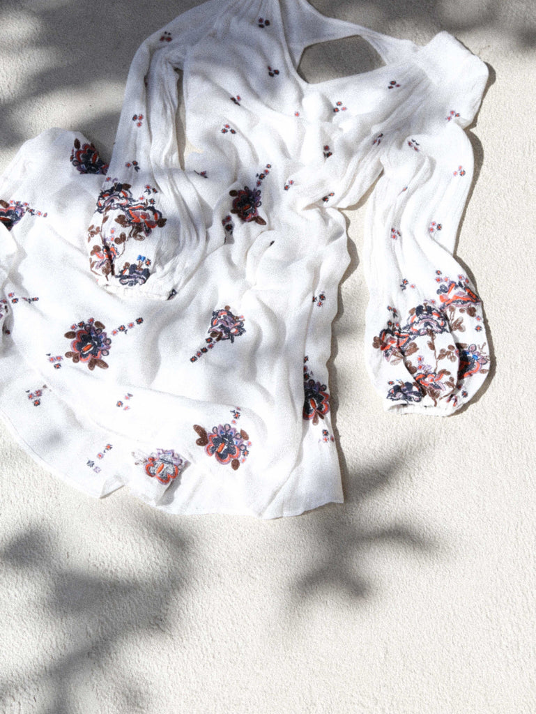 Free People Oxford Embroidered Mini Neutral Combo