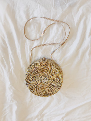 Call Me The Breeze Banjo Basket Bag Round Natural // PREORDER