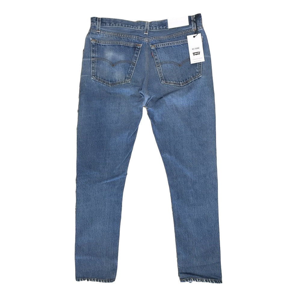 Re/Done Straight Skinny Jean Deconstructed Size 30 - Call Me The Breeze - 2