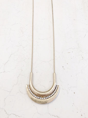 Call Me The Breeze Gemima Crescent Necklace