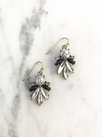 Call Me The Breeze Aria Crystal Earrings