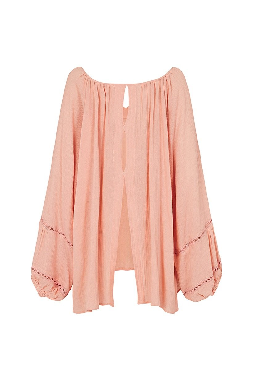 Spell Moroccan Luxe Blouse Pink