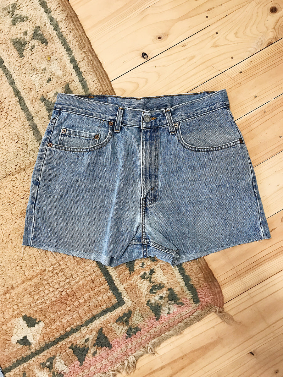 Vintage Levis Denim Shorts Size 33 Light Rinse