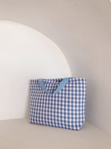 Bonnie Cooler Tote Sky Check