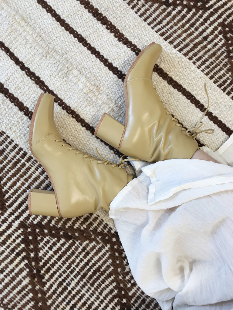 Lulu Boots Olive Oil // SECONDS SALE