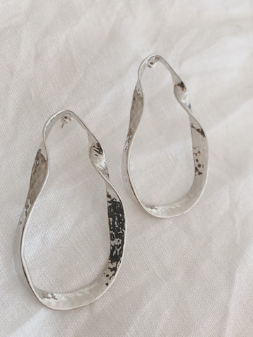 Call Me The Breeze Clementine Hoop Earrings Silver