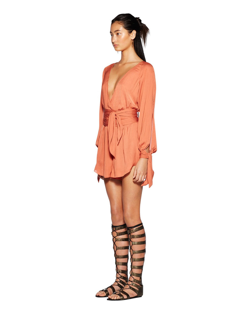 Bec and Bridge Shifting Sands Playsuit Rust - Call Me The Breeze - 2