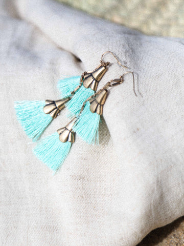 Call Me The Breeze Stephanie Earring Seafoam