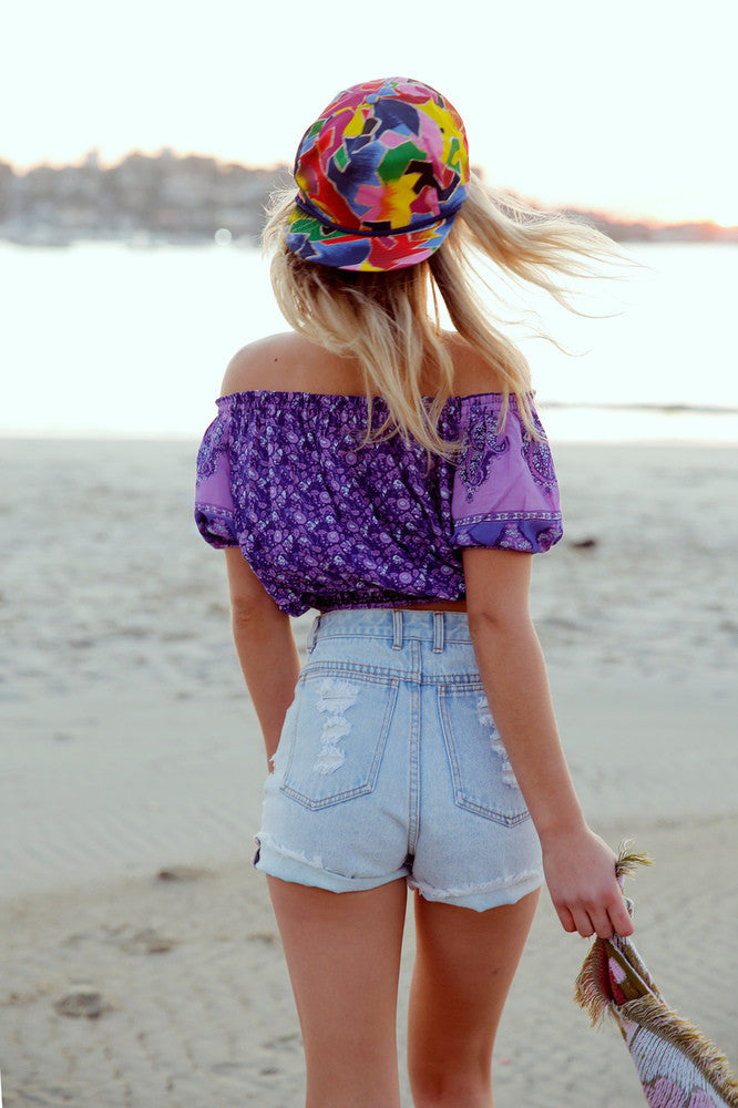 Arnhem Mimosa Crop Top Opal - Call Me The Breeze