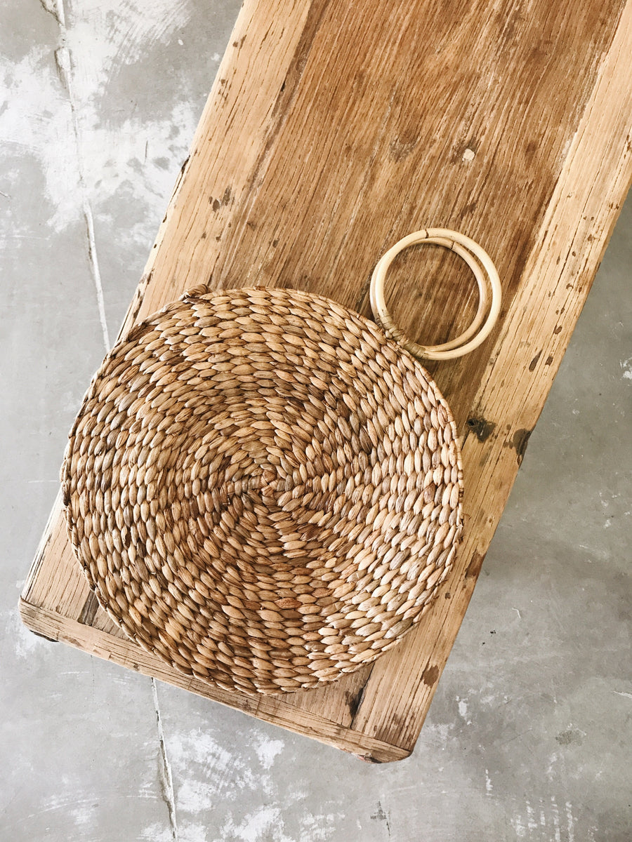 Pip Basket With Rattan Handle