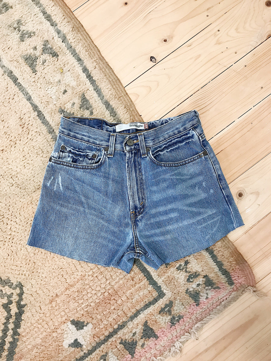 Vintage Levis Denim Shorts Size 26