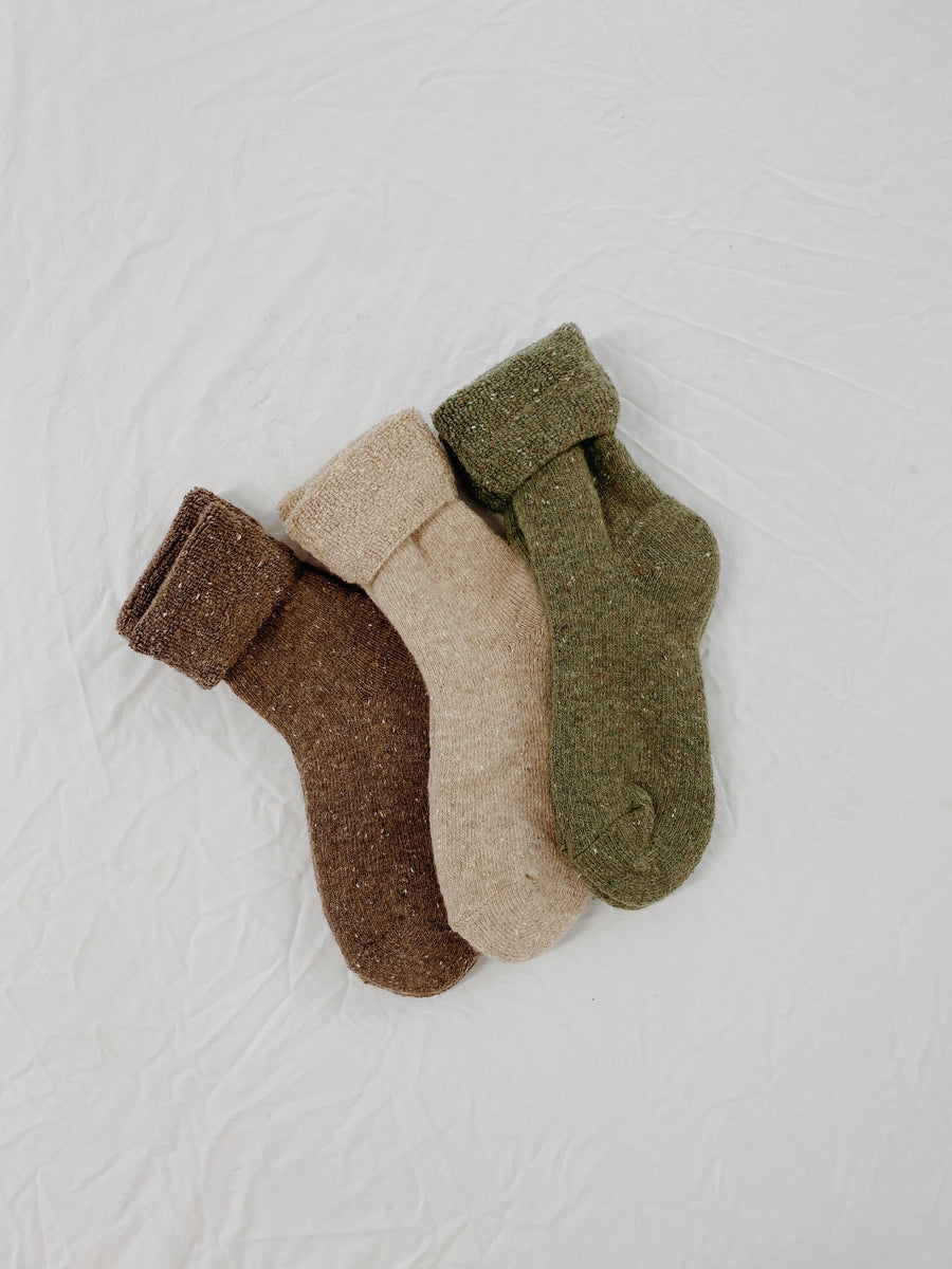 Arlo Speckled Explorer Socks Latte