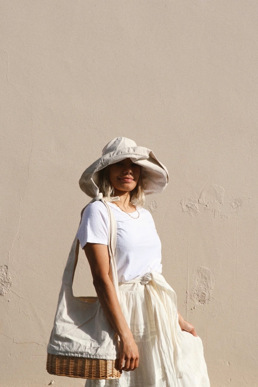 Savannah Wide Sun Hat Cream