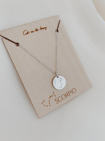 Zodiac Constellation Necklace Silver