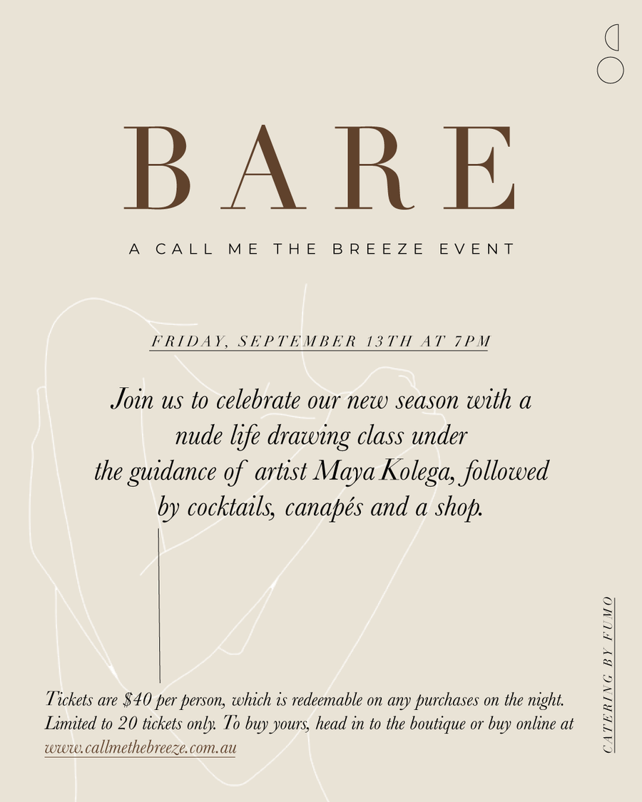 Bare | A Call Me The Breeze Event | Ticket