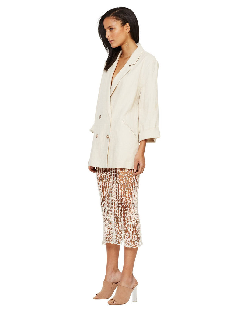 Bec and Bridge Limestone Linen Blazer