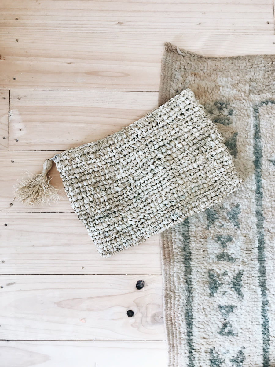 Call Me The Breeze Belize Woven Clutch