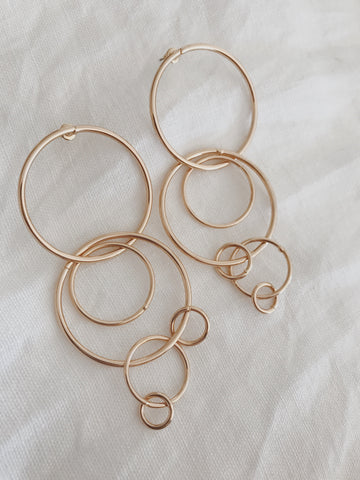 Call Me The Breeze Jolene Hoop Earrings Gold