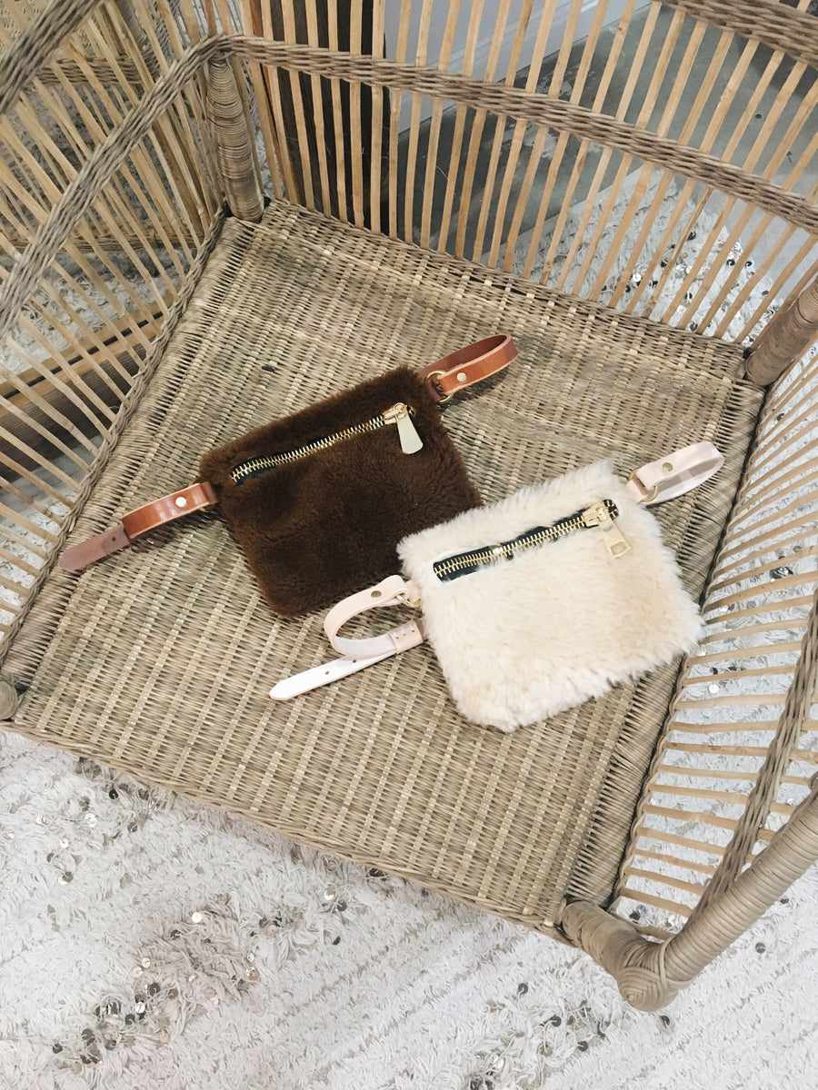 Shearling Fanny Pack Toffee