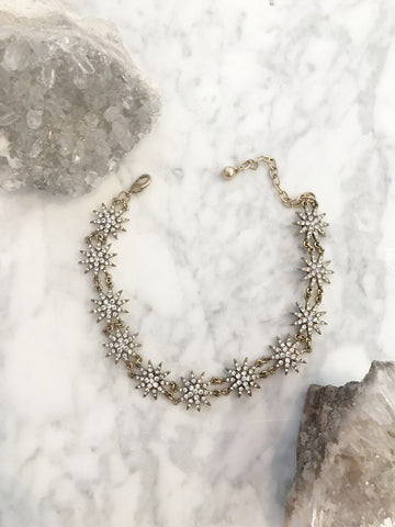 Call Me The Breeze Sunbeam Choker Antique Gold