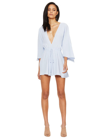 Bec and Bridge Kiss The Rain Playsuit Periwinkle