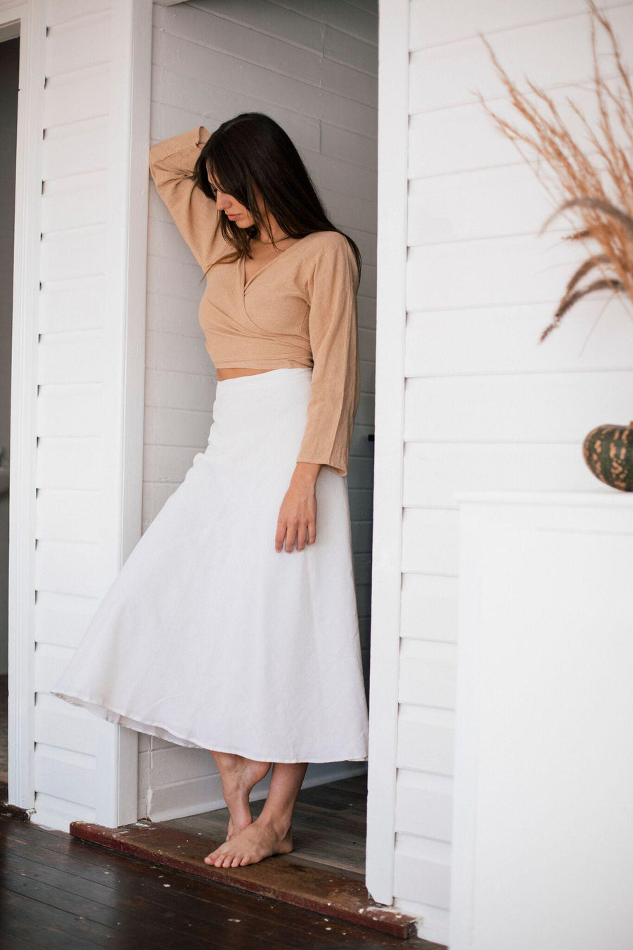 The Hemp Temple Lakshmi Skirt White