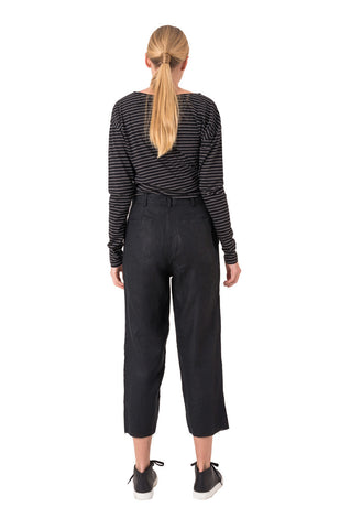 The Bare Road Linen Trousers Black