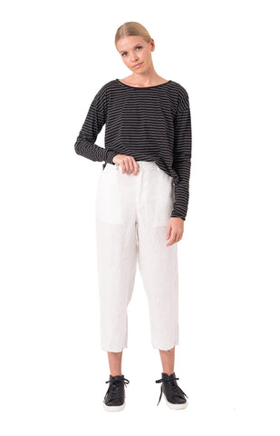 The Bare Road Linen Trousers White