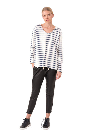 The Bare Road Long Sleeve Raw Tee Monty Stripe