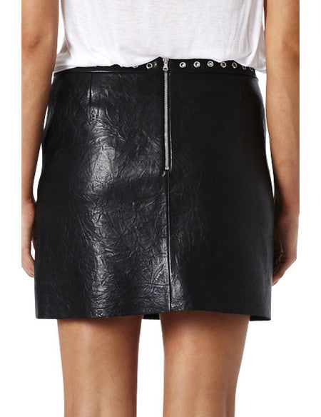 Bec and Bridge Easy Rider Leather Skirt Black - Call Me The Breeze