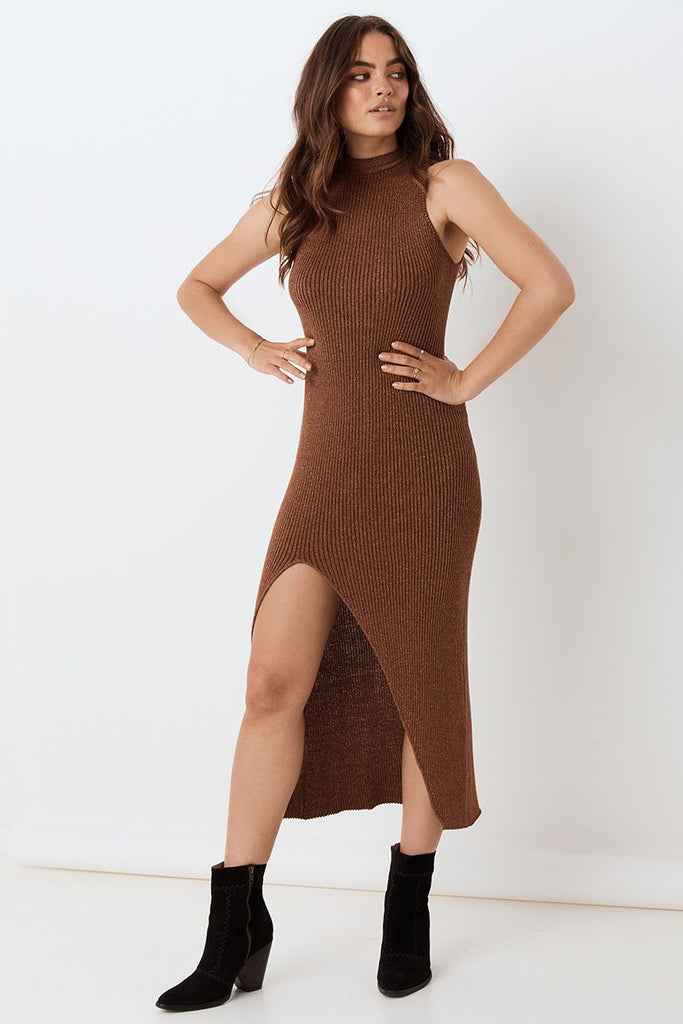 Spell Margot Knit Maxi Dress Copper