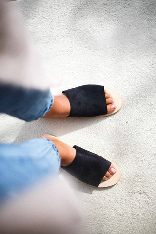 Call Me The Breeze Isabelle Slides Black Suede