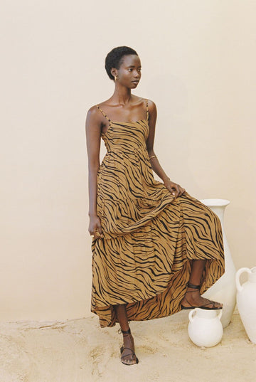 Faithfull Corvina Midi Dress Kenya Animal Print