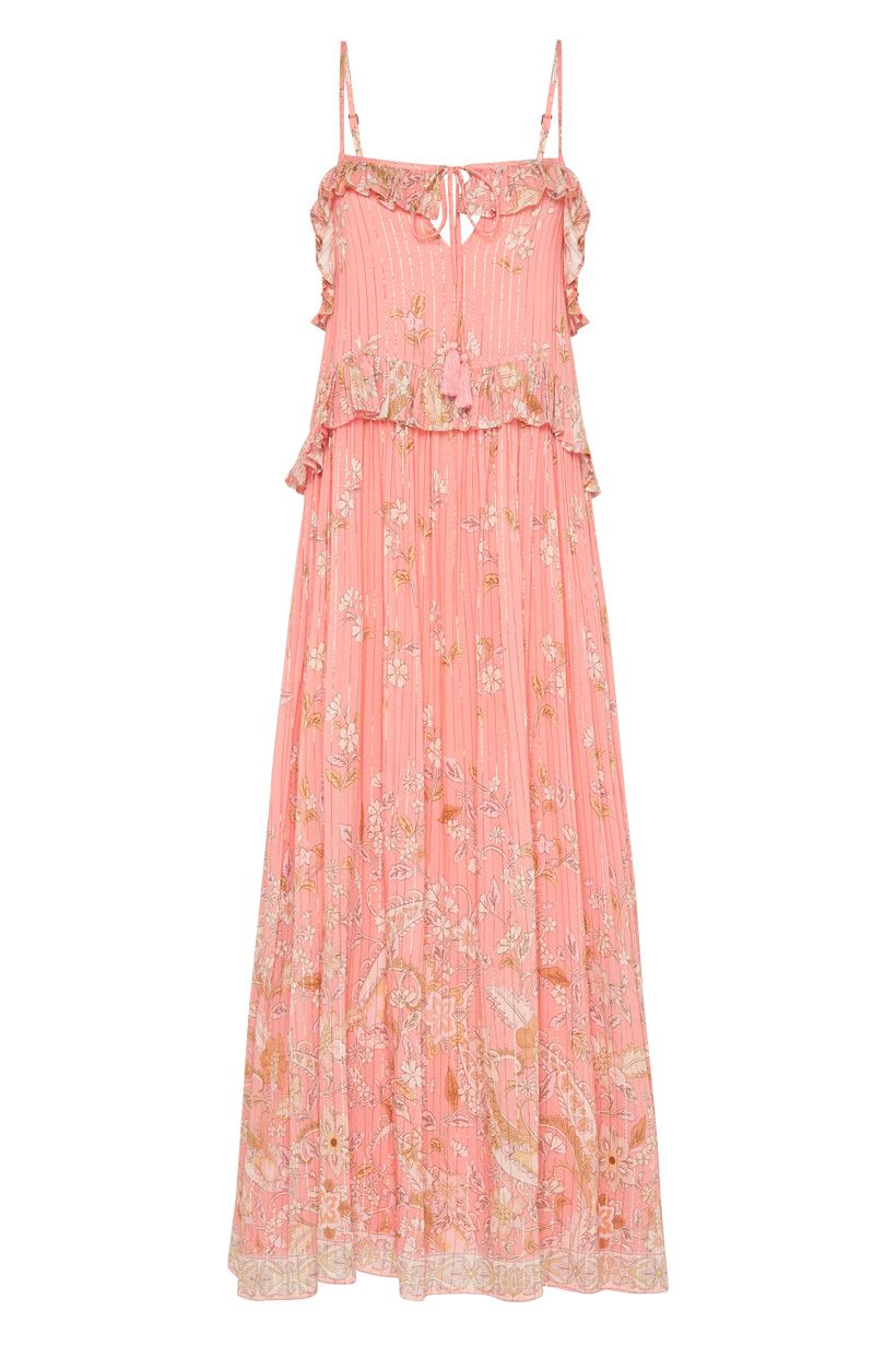 Spell Hendrix Strappy Maxi Dress Dusty Pink