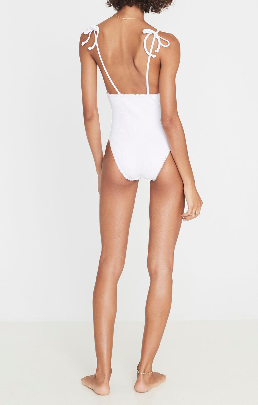 Faithfull Violette One Piece Plain White Rib