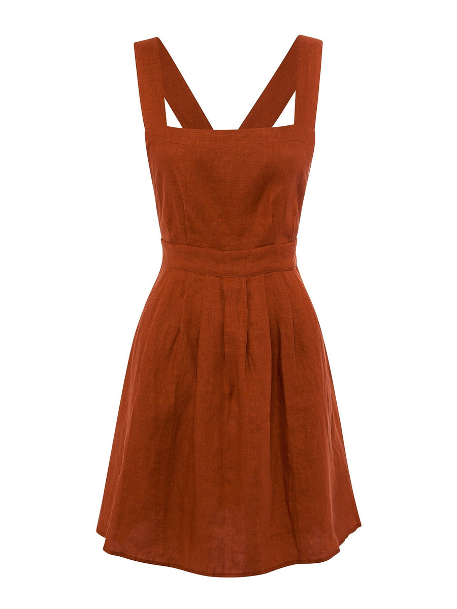 All That Remains Ophelia Pinafore Terracotta