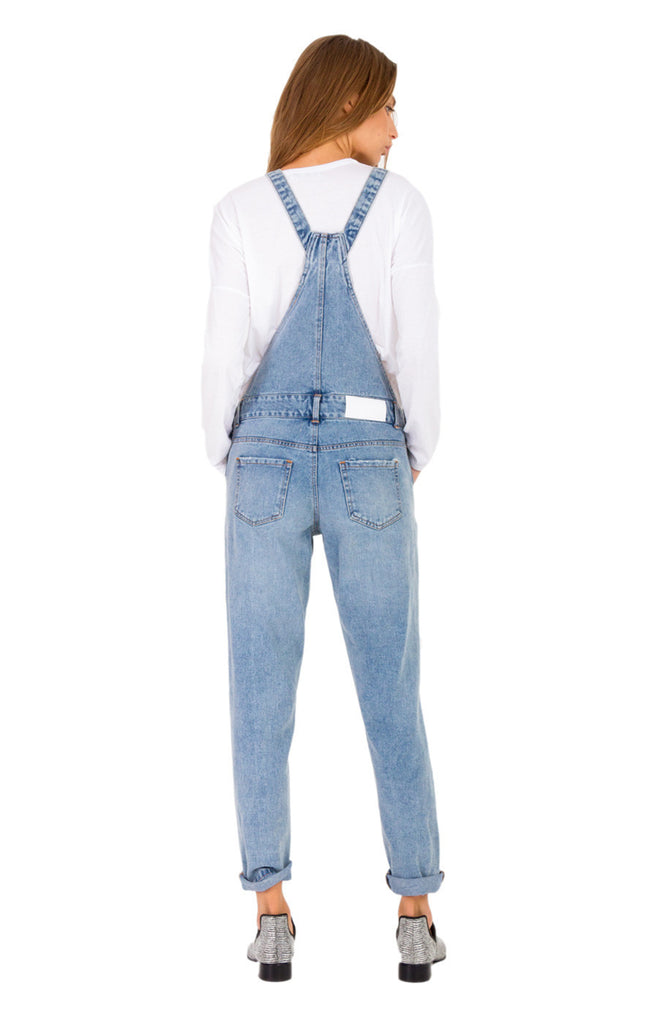 The Bare Road Denim Overall Light Beaten Blue - Call Me The Breeze - 4