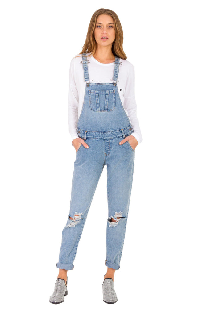 The Bare Road Denim Overall Light Beaten Blue - Call Me The Breeze - 3