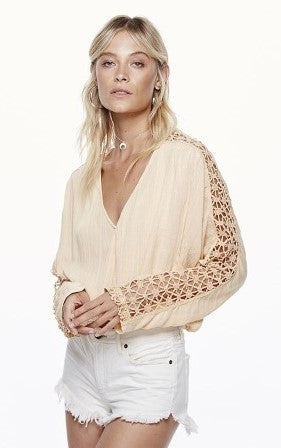 Free People Runaway Top Peach