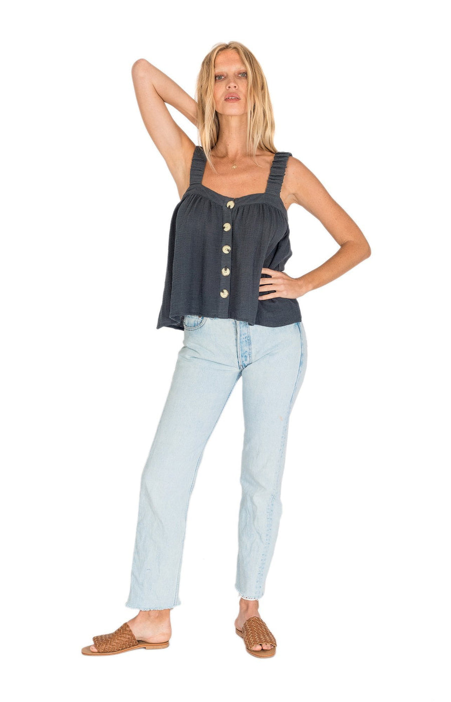 The Bare Road Poppy Top Charcoal