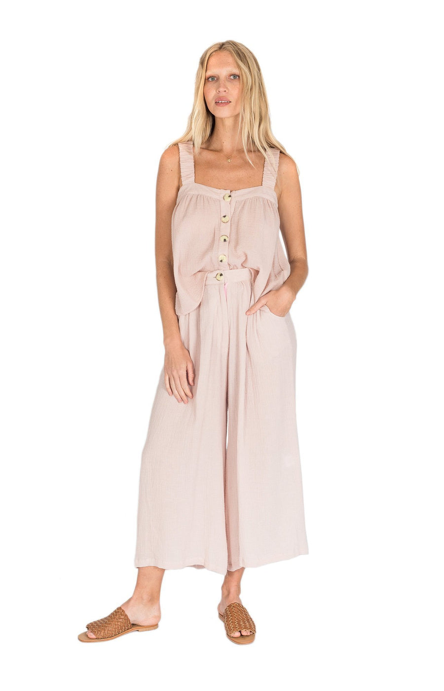 The Bare Road Poppy Pant Dusty Pink