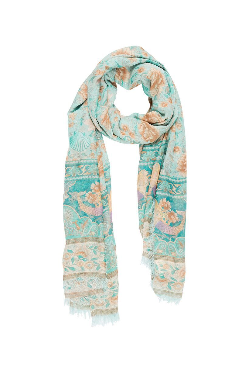 Spell Seashell Travel Scarf Seafoam