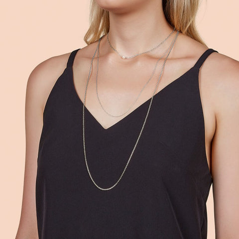 Samantha Wills Sunset View Pearl Multi Chain Necklace Silver