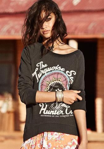 Spell Turquoise Stone Hunter Sweat Shirt - Call Me The Breeze - 2