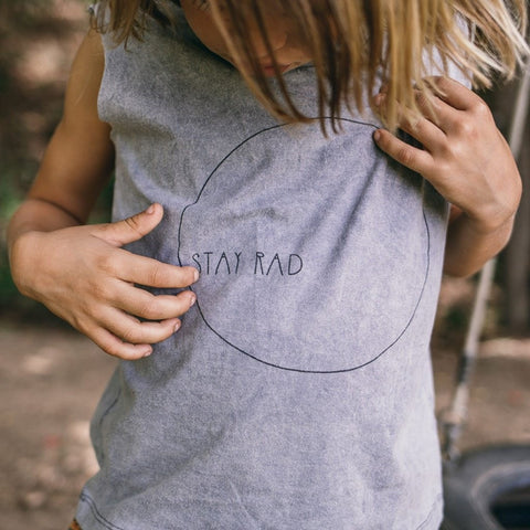 Children Of The Tribe Stay Rad Muscle Tee